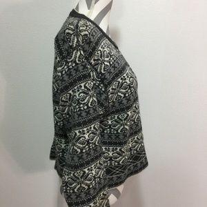 Woolrich Sweaters - Woolrich Fair Isle Metal Clasp Grey Multi Sweater